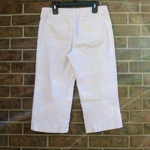 Chicos Platinum Capri Stretch Crop Pant 1.5 White